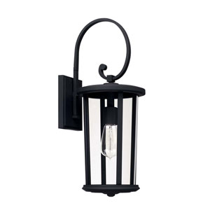 Howell Black One-Light Outdoor Wall Lantern