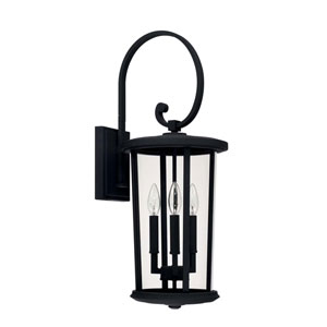 Howell Black Three-Light Outdoor Wall Lantern
