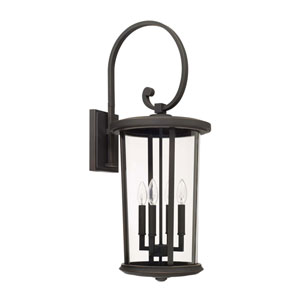 Howell Oil Rubbed Bronze Four-Light Outdoor Wall Lantern