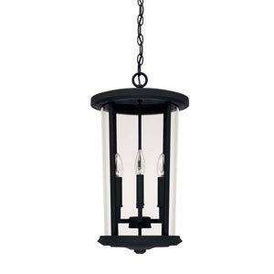 Howell Black Four-Light Outdoor Hanging Lantern