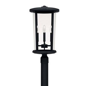 Howell Black Four-Light Outdoor Post Lantern