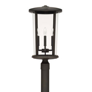 Howell Oil Rubbed Bronze Four-Light Outdoor Post Lantern