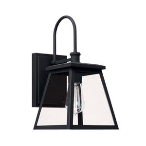 Belmore Black Seven-Inch One-Light Outdoor Wall Lantern
