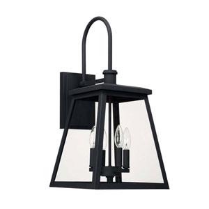 Belmore Black Four-Light Outdoor Wall Lantern