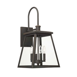 Belmore Oil Rubbed Bronze Four-Light Outdoor Wall Lantern