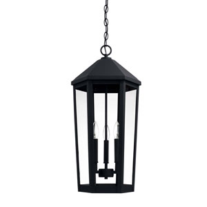 Ellsworth Black Three-Light Outdoor Hanging Lantern