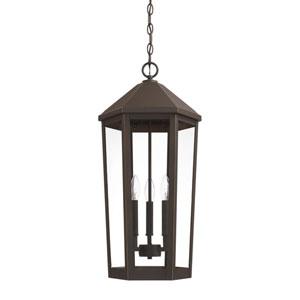 Ellsworth Oil Rubbed Bronze Three-Light Outdoor Hanging Lantern