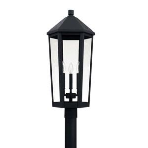 Ellsworth Black Three-Light Outdoor Post Lantern