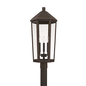 Ellsworth Oil Rubbed Bronze Three-Light Outdoor Post Lantern