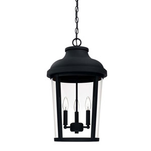 Dunbar Black Three-Light Outdoor Hanging Lantern