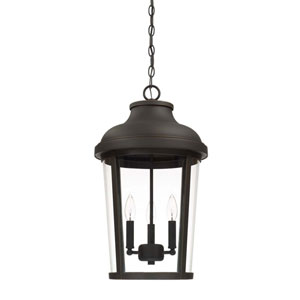 Dunbar Oil Rubbed Bronze Three-Light Outdoor Hanging Lantern