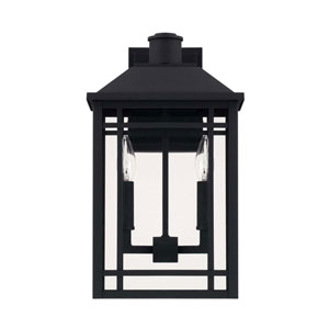 Braden Black Two Light Outdoor Wall Lantern