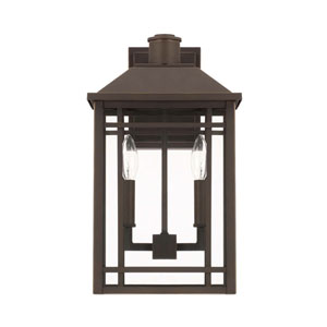 Braden Oil Rubbed Bronze Two Light Outdoor Wall Lantern