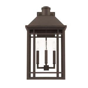 Braden Oil Rubbed Bronze Three-Light Outdoor Wall Lantern