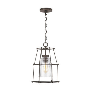 Outdoor Oiled Bronze 11-Inch One-Light Outdoor Hanging Lantern