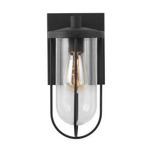 Corbin Black Six-Inch One-Light Outdoor Wall Lantern