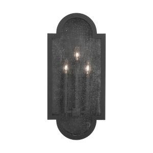 Monroe Black Three-Light Outdoor Wall Lantern