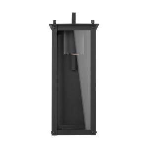 Hunt Black Six-Inch One-Light Outdoor Wall Lantern