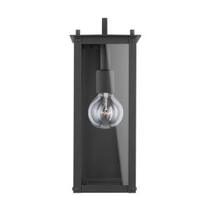 Hunt Black Six-Inch One-Light Outdoor Wall Lantern