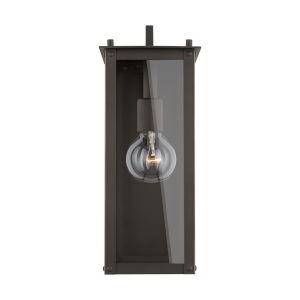 Hunt Oiled Bronze Six-Inch One-Light Outdoor Wall Lantern
