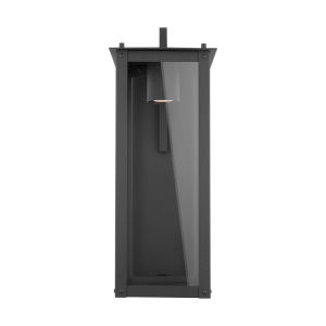Hunt Black Eight-Inch One-Light Outdoor Wall Lantern