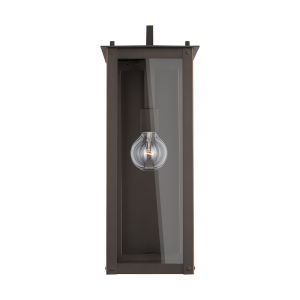 Hunt Oiled Bronze Eight-Inch One-Light Outdoor Wall Lantern