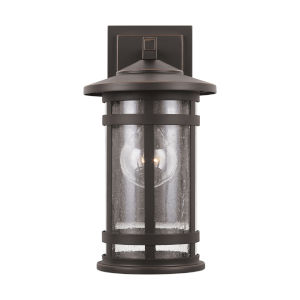 Mission Hills Oiled Bronze One-Light Outdoor Wall Lantern