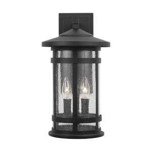 Mission Hills Black Two-Light Outdoor Wall Lantern