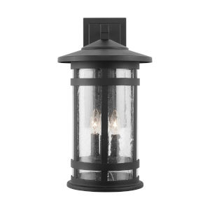 Mission Hills Black Three-Light Outdoor Wall Lantern
