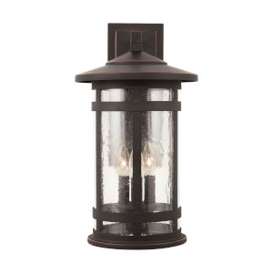 Mission Hills Oiled Bronze Three-Light Outdoor Wall Lantern
