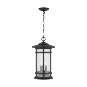 Mission Hills Black Three-Light Outdoor Hanging Lantern