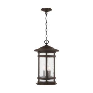 Mission Hills Oiled Bronze Three-Light Outdoor Hanging Lantern