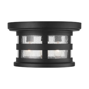 Mission Hills Black Three-Light Outdoor Flush and Semi-Flush