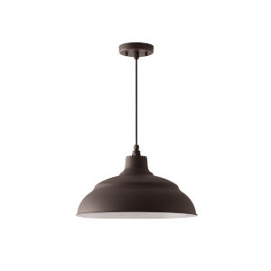 RLM Oiled Bronze 17-Inch One-Light Outdoor Hanging Pendant