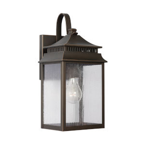 Sutter Creek Oiled Bronze One-Light Outdoor Wall Mount with Antiqued Water Glass