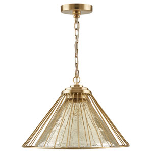 Matte Gold One-Light Artisan Pendant