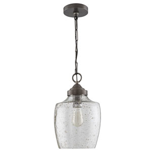 Pewter One-Light Farmhouse Mini Pendant