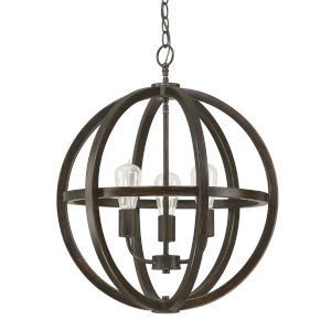 Cole Brushed Espresso 19-Inch Three-Light Pendant
