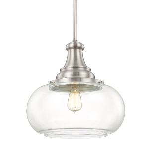 Brushed Nickel 15-Inch One-Light Pendant