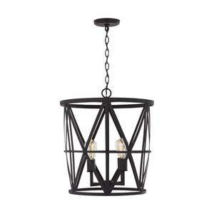 Salacia Black 20-Inch Four-Light Pendant