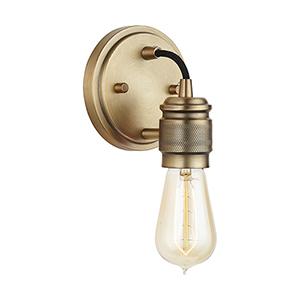 Unigo Aged Brass One-Light Sconce