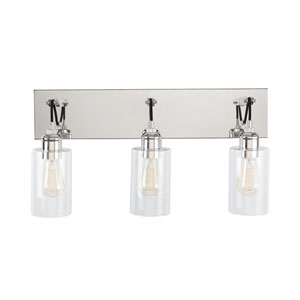 Prospero Polished Nickel 12-Inch Three-Light Bath Vanity