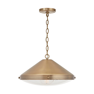 Polaris Aged Brass One-Light Pendant