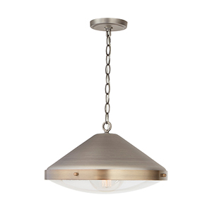 Polaris Antique Nickel One-Light Pendant