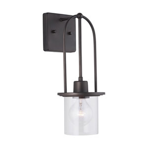Earl Grey Bronze 15-Inch One-Light Wall Sconce
