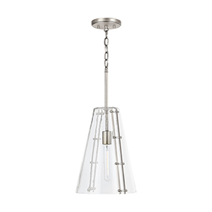 Aquatas Aged Brass One-Light Pendant