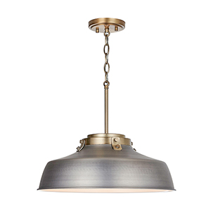 Oakwood Antique Nickel One-Light Pendant