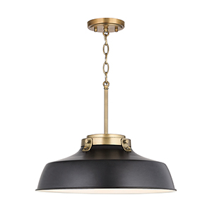Oakwood Matte Black One-Light Pendant