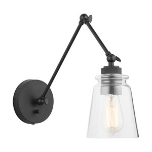 Profile Matte Black 26-Inch One-Light Wall Sconce