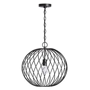 Glenda Nior Black One-Light 17-Inch Orb Pendant